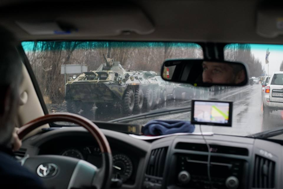 Военная техника под оккупированным Луганском
