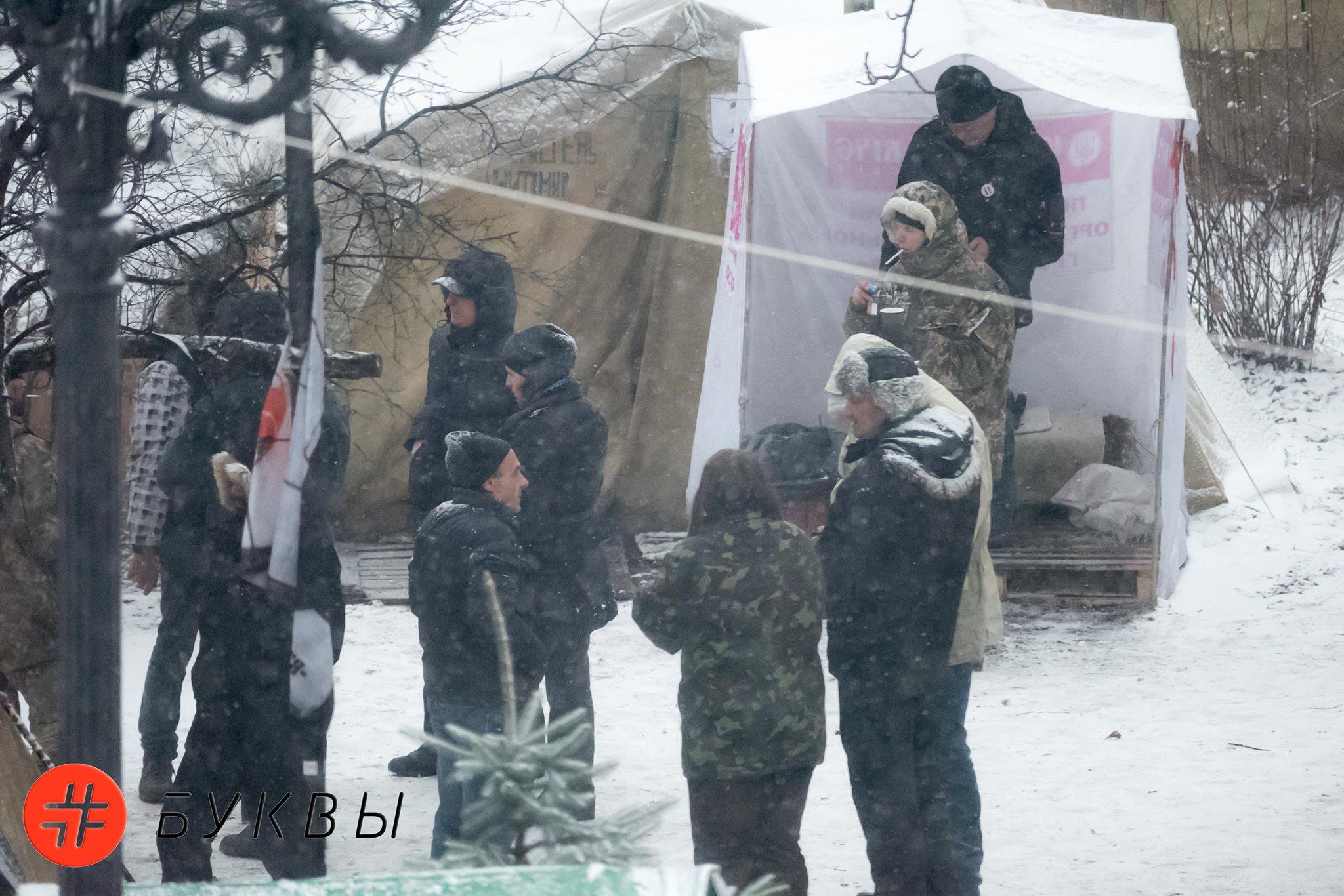 Обстановка в палаточном городке