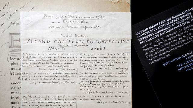les manuscrits de sade et breton classes tresors nationaux