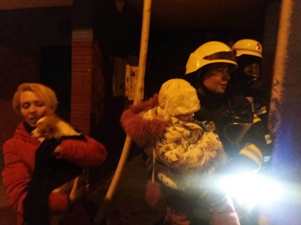 Пожар в Киеве.