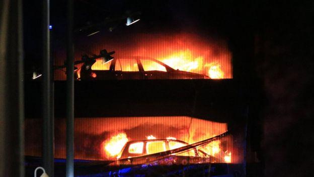 Пожар в Ливерпуле.