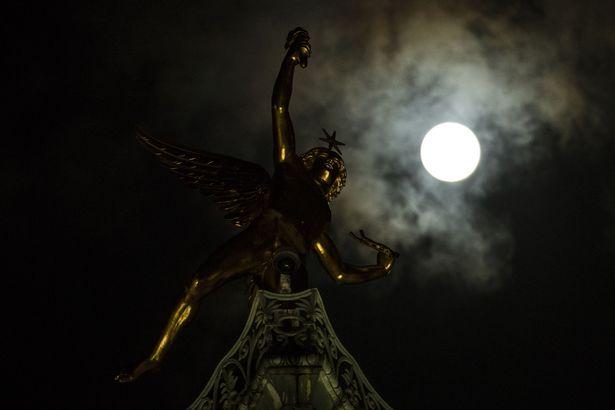 New year super moon in Paris France 02 Jan 2018