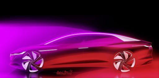 Концепт беспилотного электрокара Volkswagen.