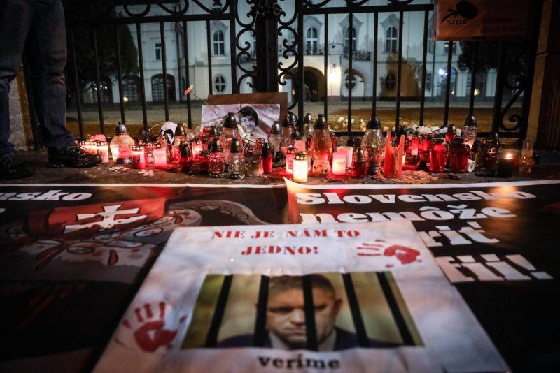 протесты в Словакии