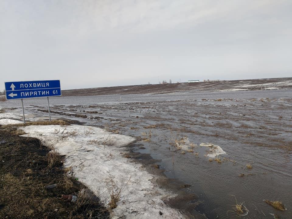 Подтопление в Полтавской области.