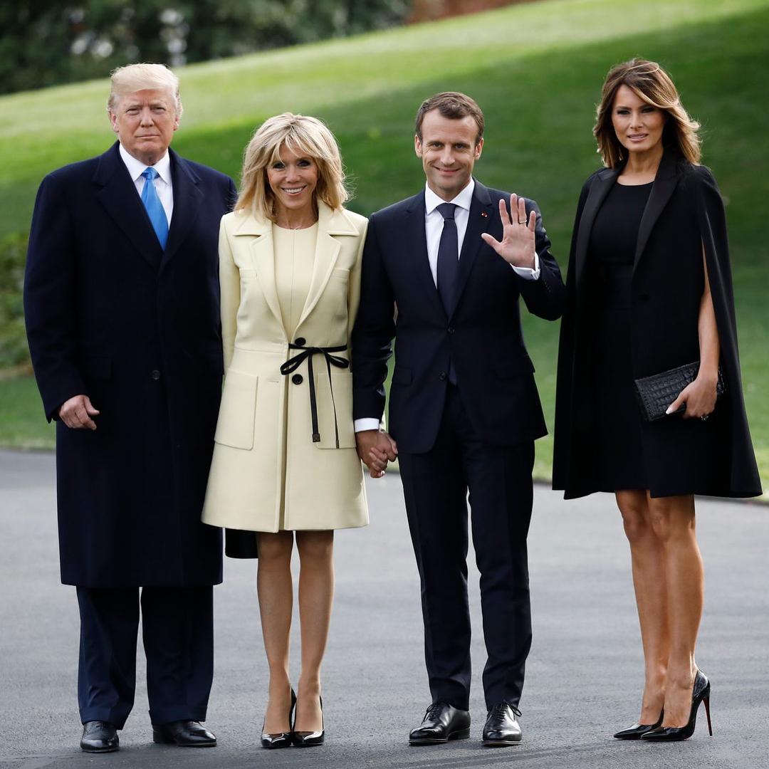 Визита президента и первой леди Франции в США