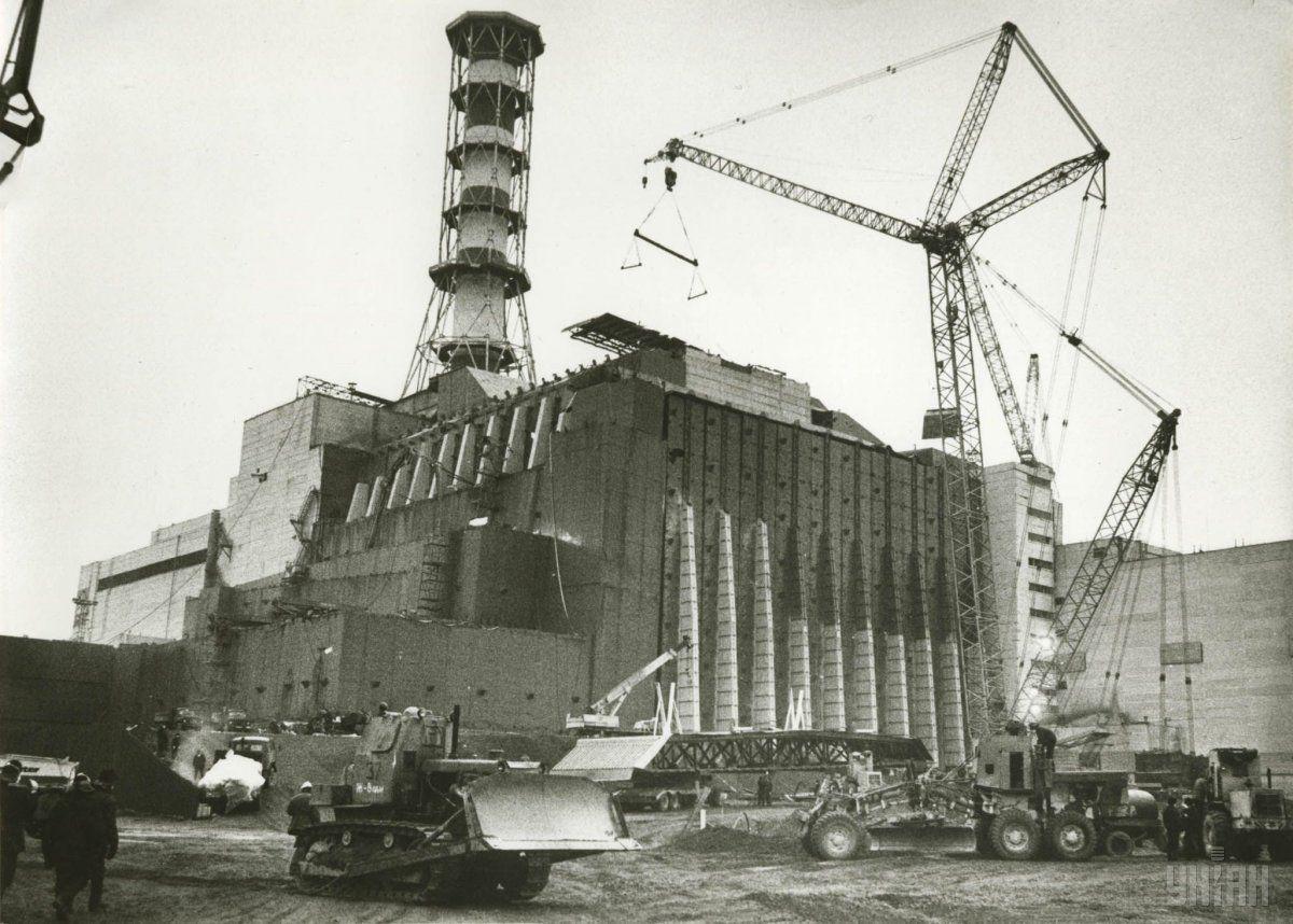 Чернобыльская зона во время ликвидации аварии на АЭС.