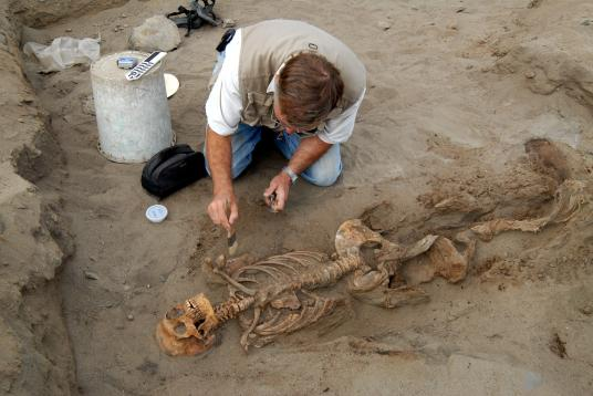 Раскопки на территории Перу.