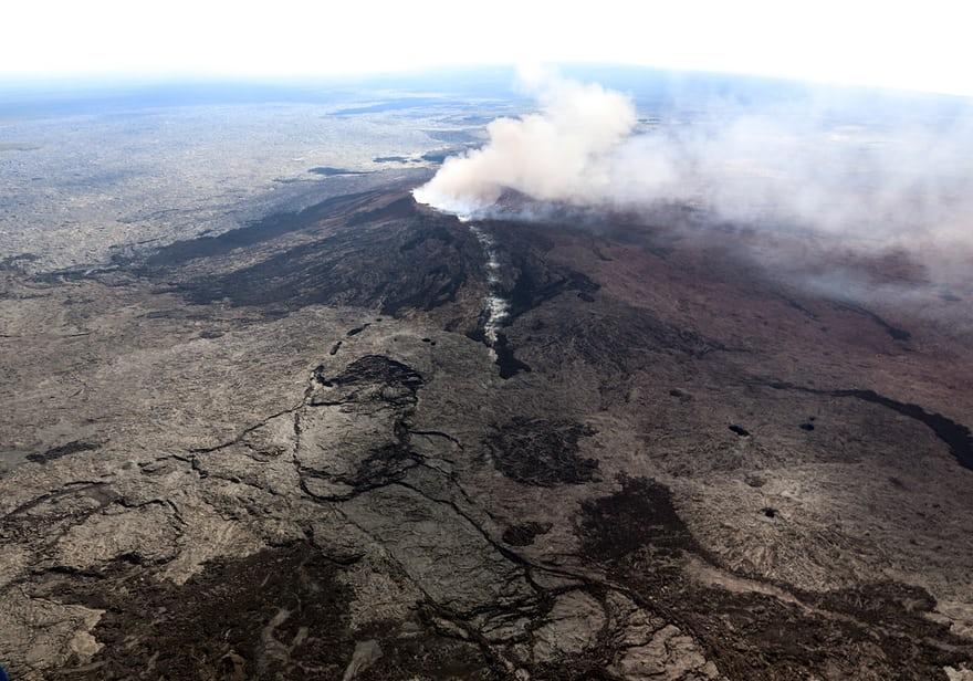 Извержение вулкана на Гавайях.