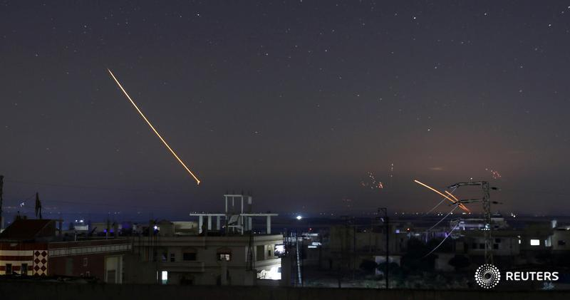 Ракетный удар по территории Сирии.