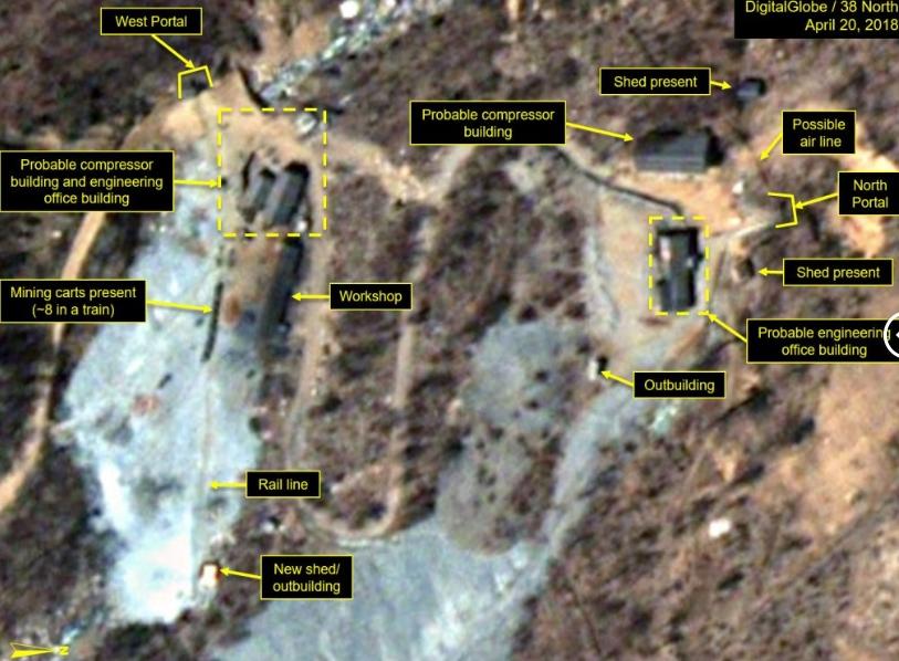 Изменения на ядерном полигоне в КНДР.
