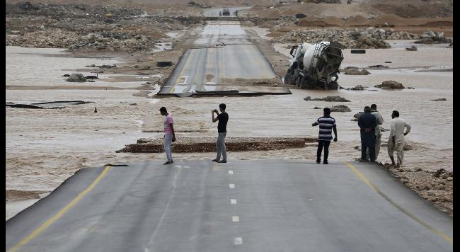 Циклон «Мекуну» на Ближнем Востоке.
