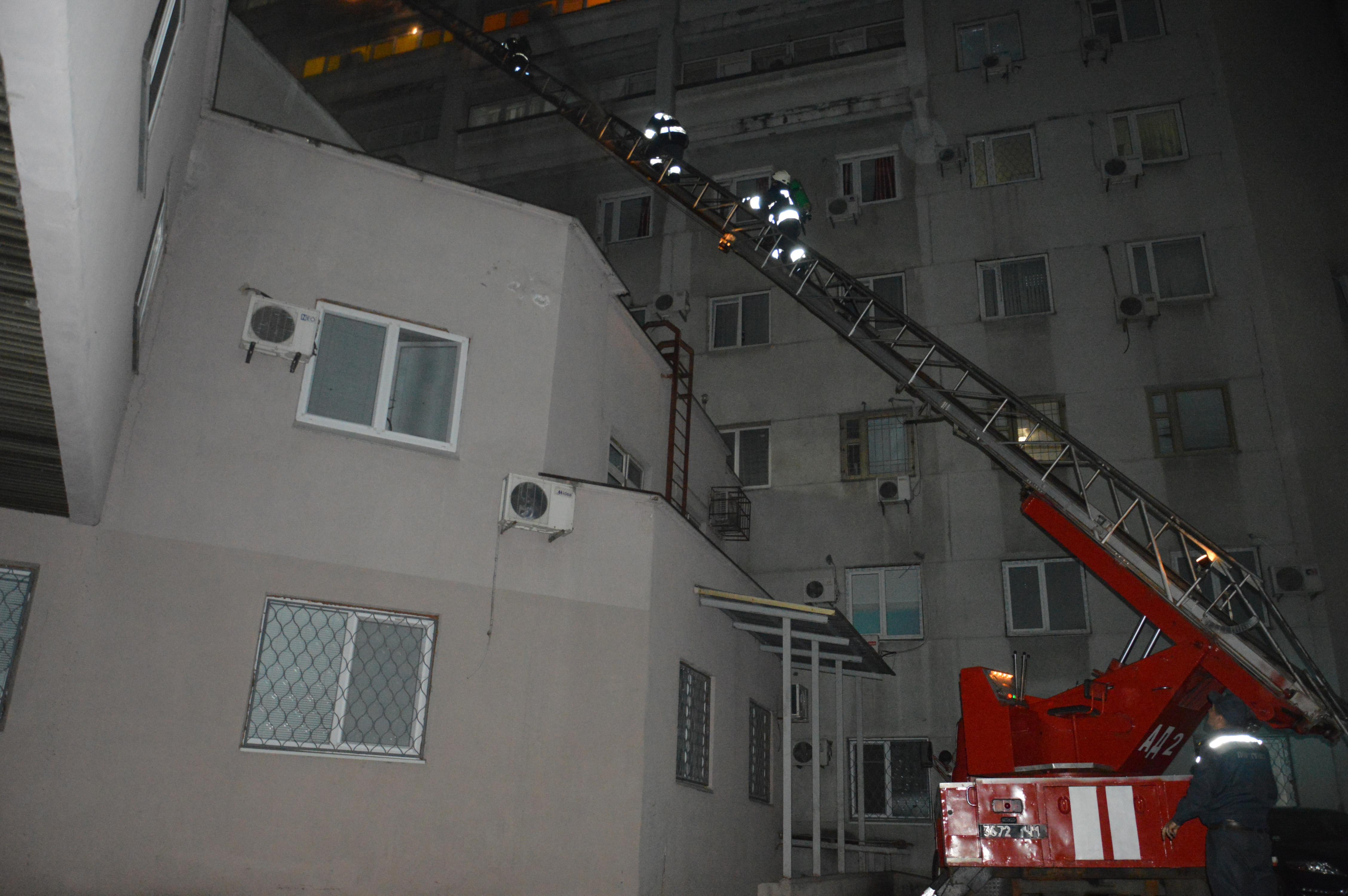 Пожар в днепровской больнице.