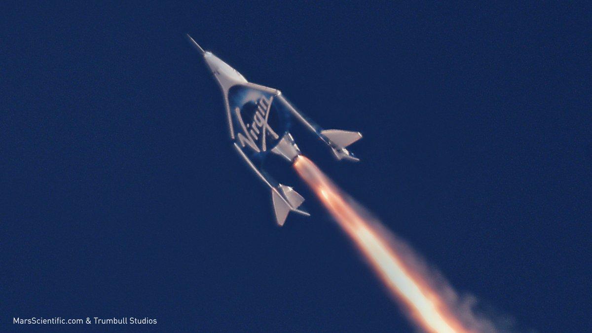 Испытания корабля SpaceShipTwo.