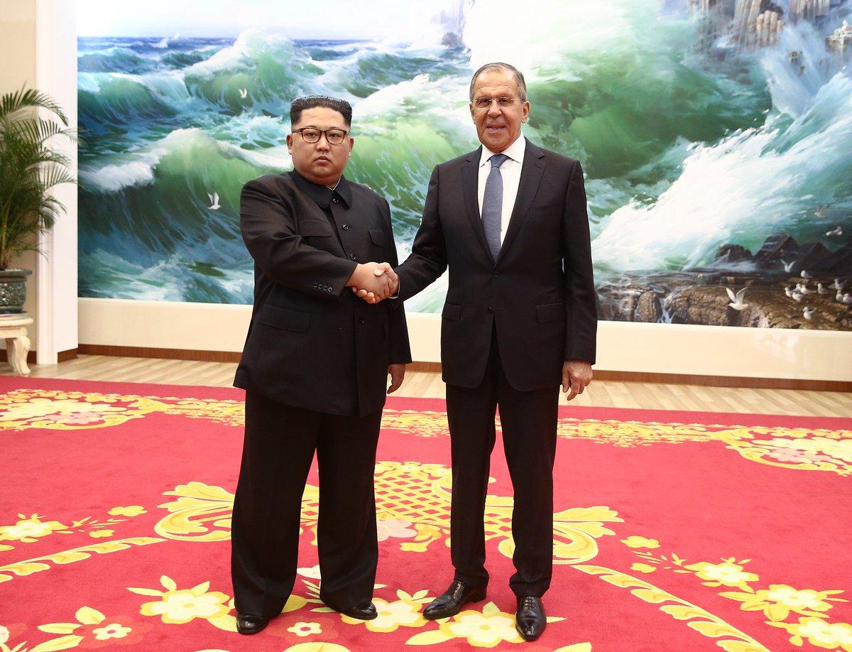 Лавров и Ким Чен Ын
