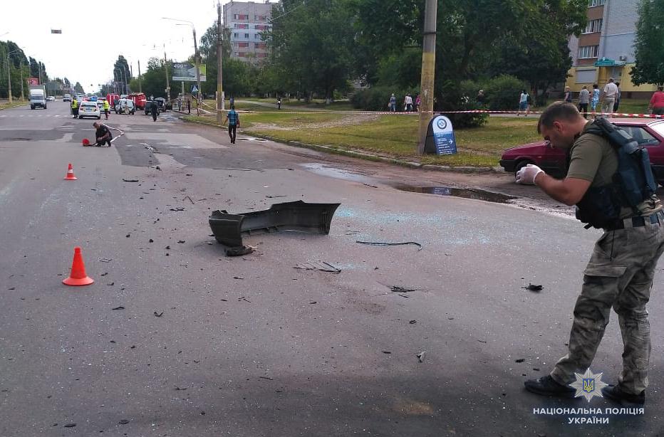 Взрыв в Черкассах.