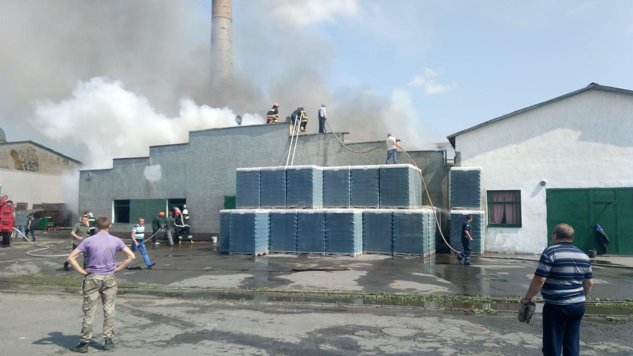 Пожар в Рокитновском стеклозаводе.