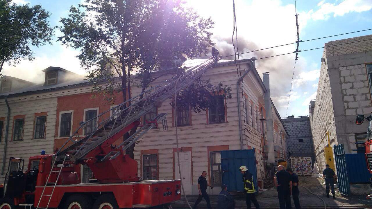 пожар в вуза Харькова