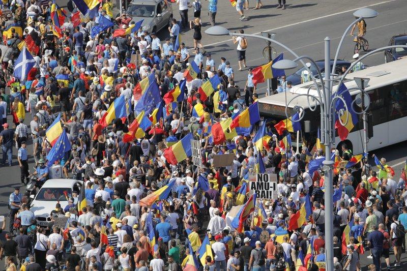 антиправительственный митинг_бухарест