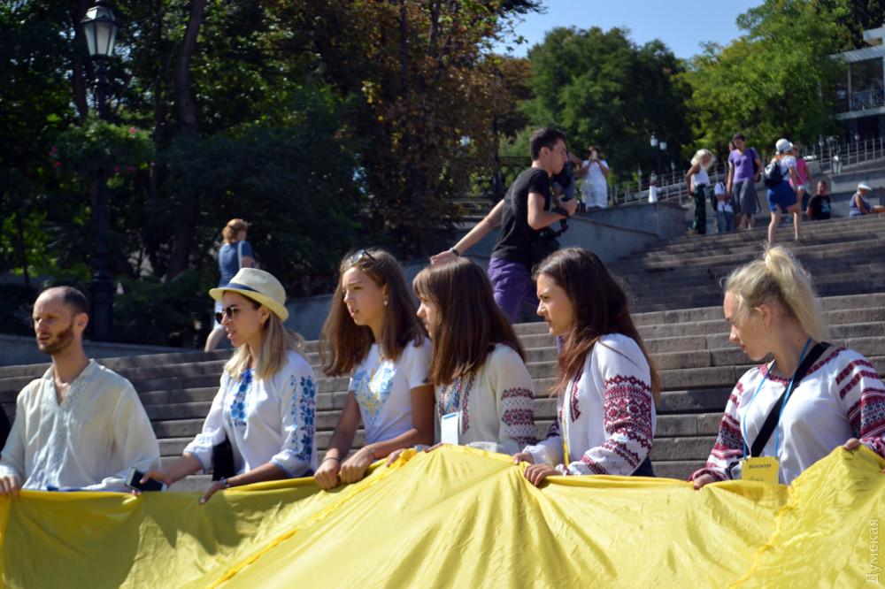 Флаг на Потемкинской лестнице