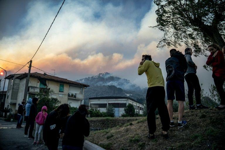 пожар италия