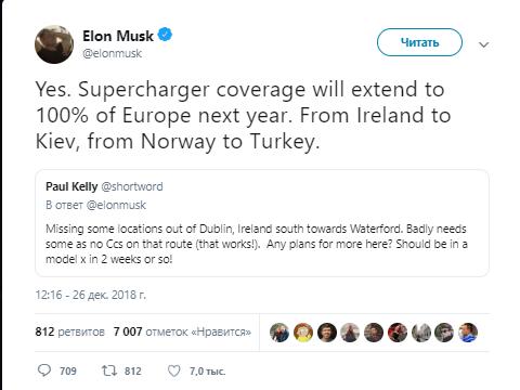Маск Тесла