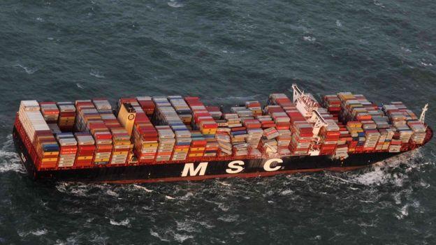 контейнеры MSC Zoe