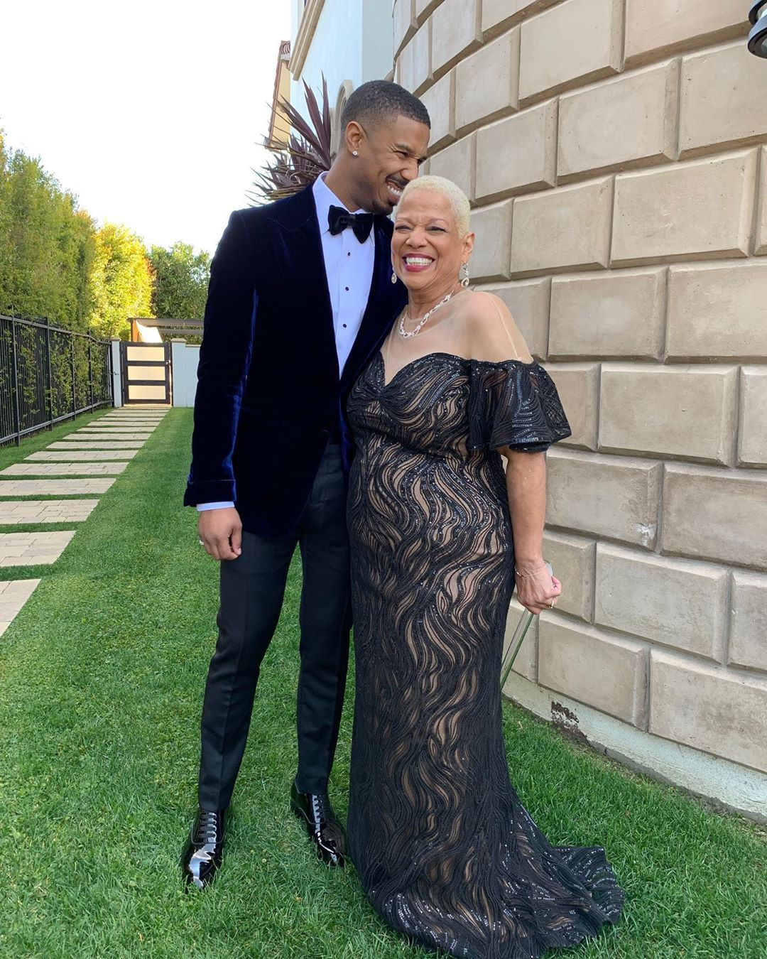 Майкл Джордан с мамой