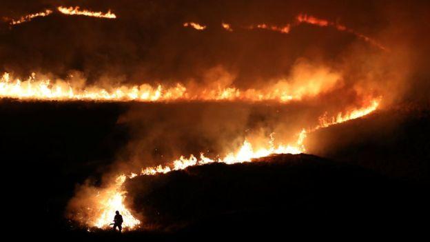 пожар вблизи Манчестера