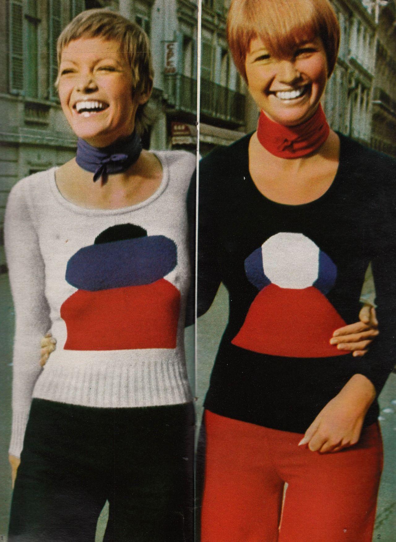11 Трикотажные джемперы Sonia Rykiel на страницах Elle France май 1971 года