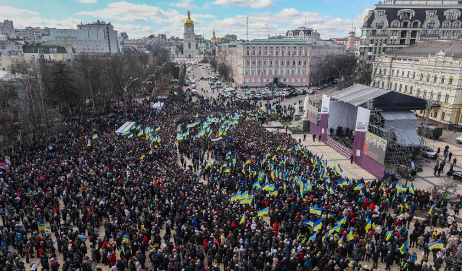 Порошенко на Михайловской площади