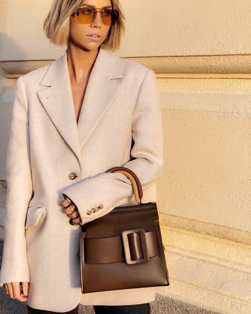 Streetstyle 2019 пастельное пальто