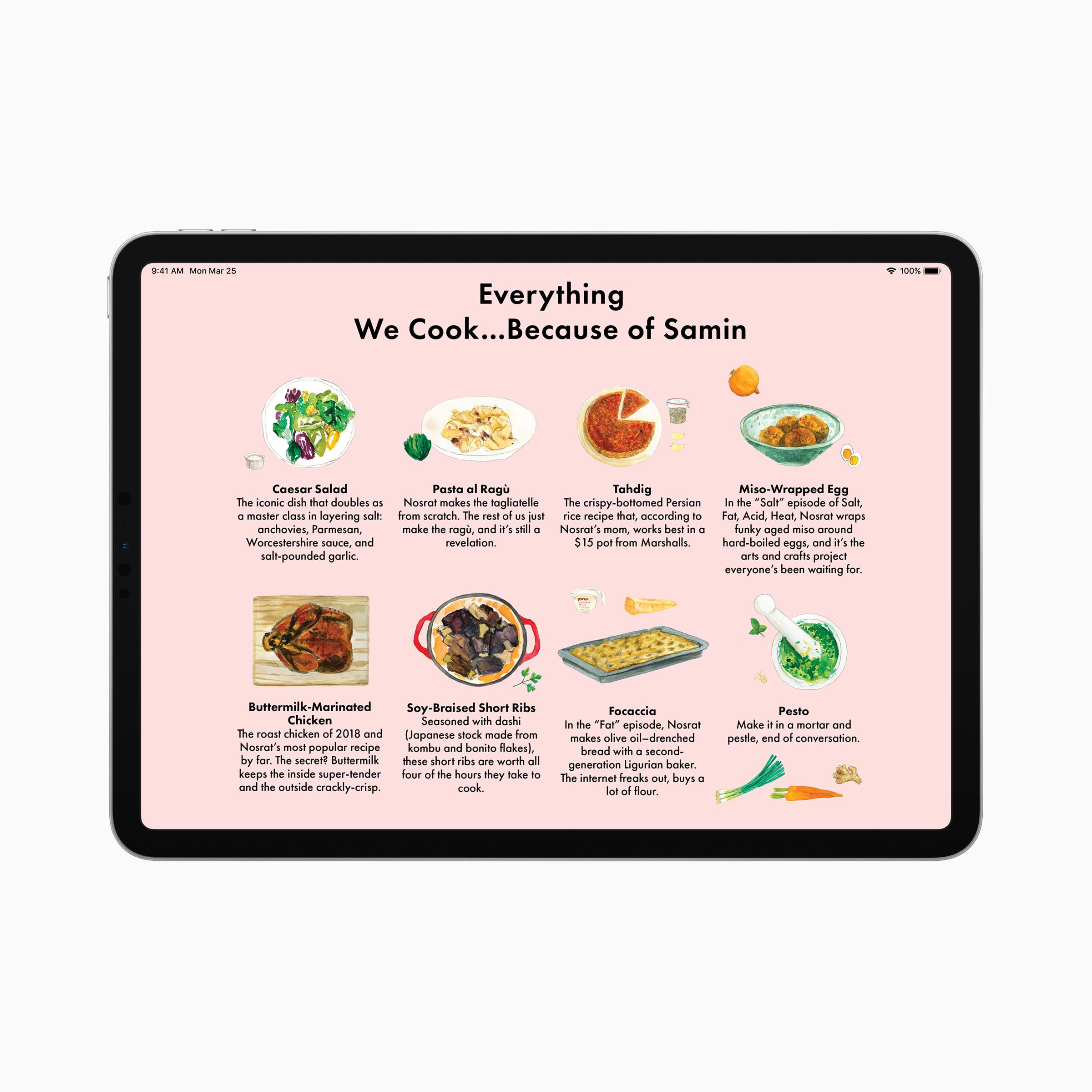 Apple news plus bon appetit ipad screen 03252019