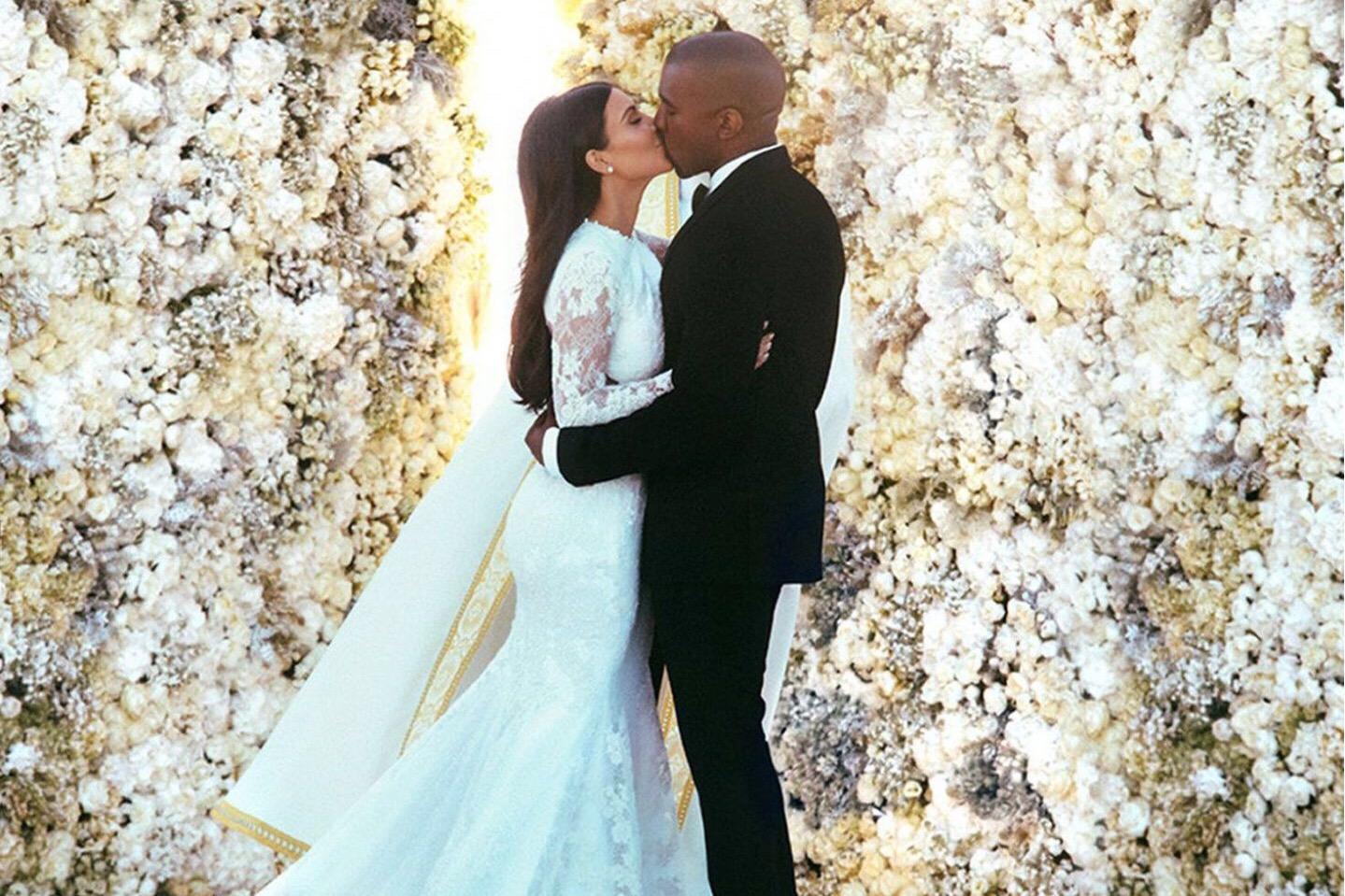 Фото со свадьбы Ким Кардашьян и Канье