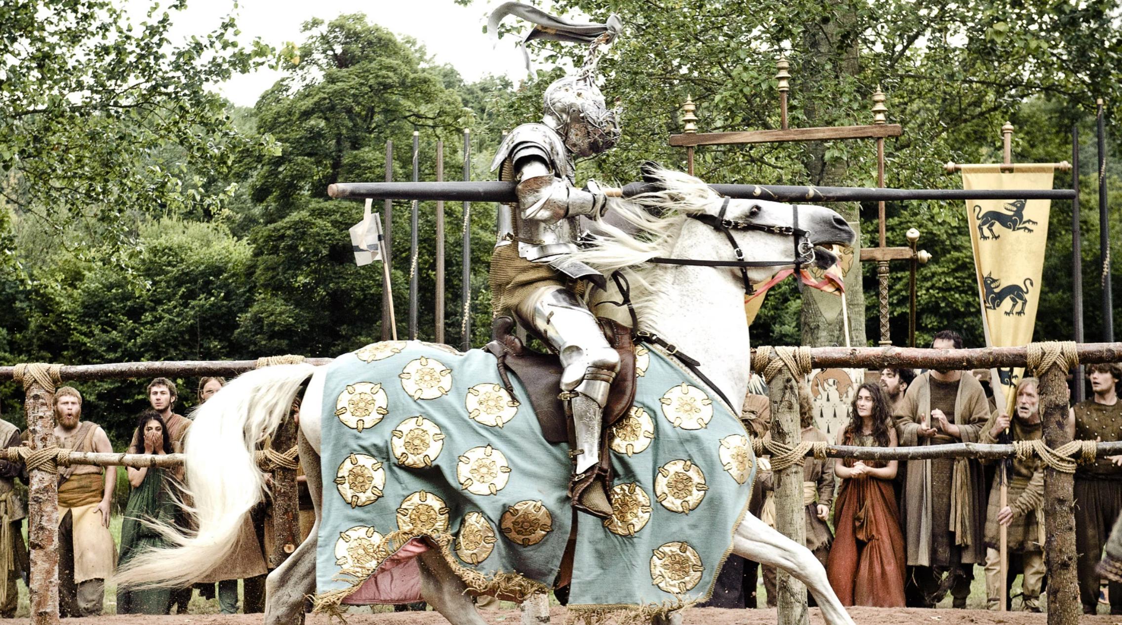 Лорас Тирелл на лошади
