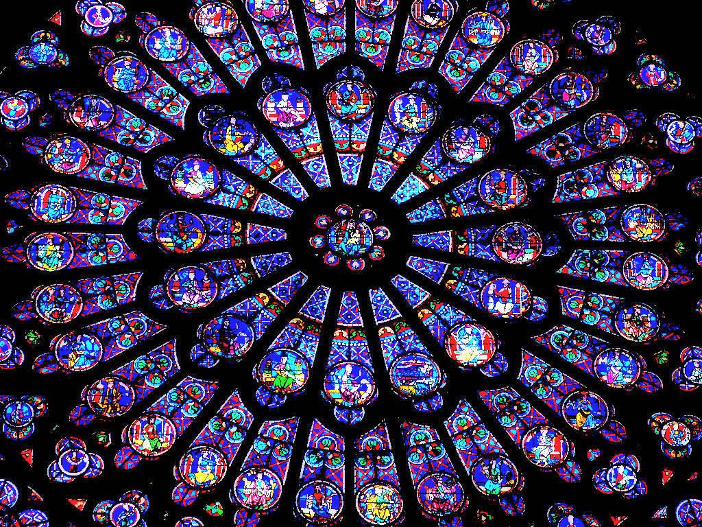 Notre Dame de Paris vitrale rose