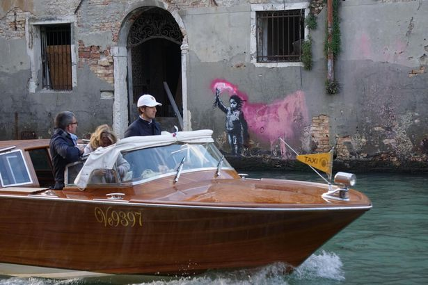 0 Alleged new Banksy artwork appears in Venice Italy 14 May 2019