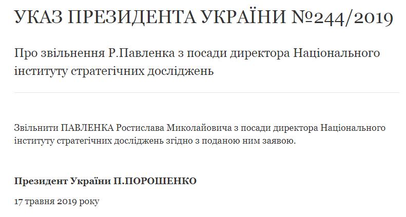 Павленко Директор